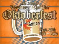 Downtown Chandler is robust. Octoberfest is an annual city festival.